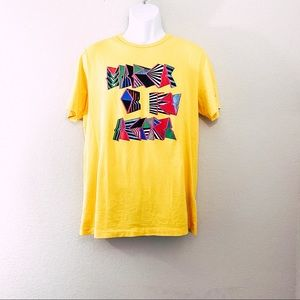 NIKE Yellow Tee Brazil Men's Size L
